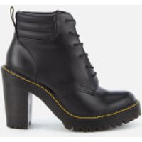 Dr. Martens Women's Persephone 6-Eye Padded Collar Heeled Boots - Black - UK 8 - Black