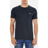 BOSS Men's Basic Crew Shoulder Logo T-Shirt - Navy - L