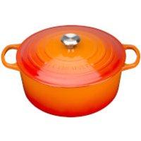 Le Creuset Signature Cast Iron Round Casserole Dish - 20cm - Volcanic