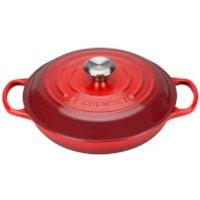 Le Creuset Signature Cast Iron Shallow Casserole Dish - 26cm - Cerise