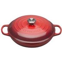 Le Creuset Signature Cast Iron Shallow Casserole Dish 30cm - Cerise
