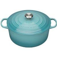 Le Creuset Signature Cast Iron Round Casserole Dish - 20cm - Teal