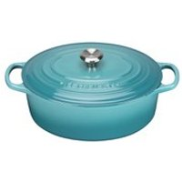 Le Creuset Signature Cast Iron Oval Casserole Dish 27cm - Teal