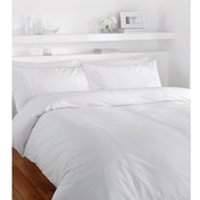 Catherine Lansfield Minimalist Duvet Set - White - Single - White