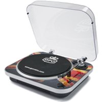 GPO Retro Jam 3-Speed Stand Alone Vinyl Turntable with Built-In Speakers - Union Jack - Union Jack Gifts