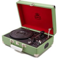 GPO Retro Attache Briefcase Style Three-Speed Portable Vinyl Turntable with Free USB Stick and Built
