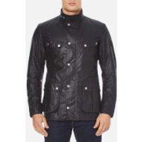 Barbour International Men's Duke Wax Jacket - Navy - S