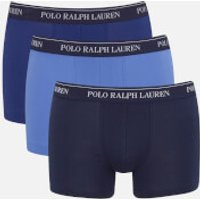 Polo Ralph Lauren Men's 3 Pack Trunk Boxer Shorts - Blue Denim - M - Blue
