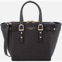 Aspinal of London Womens Marylebone Mini Tote Bag - Black Pebble