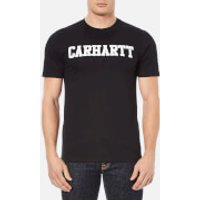Carhartt Mens Short Sleeve College T-Shirt - Black/White - L - Black/White