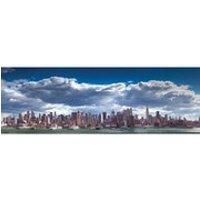 New York Manhattan Skyline - 21 x 59 Inches Door Poster