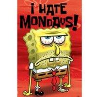 Spongebob Squarepants I Hate Mondays - 24 x 36 Inches Maxi Poster - Spongebob Squarepants Gifts