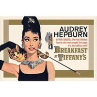 Audrey Hepburn Breakfast At Tiffanys Gold One Sheet - 24 x 36 Inches Maxi Poster
