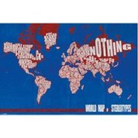 World Map Stereotypes - 24 x 36 Inches Maxi Poster