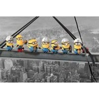 Despicable Me Minions Lunch On A Skyscraper - 24 x 36 Inches Maxi Poster - Despicable Me Gifts