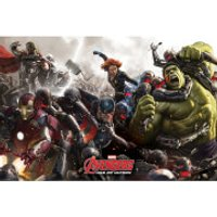 Marvel Avengers Age Of Ultron Battle - 24 x 36 Inches Maxi Poster - Avengers Gifts