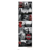 London Collage - 12 x 36 Inches Midi Poster