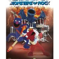 Sesame Street Monsters Of Rock - 16 x 20 Inches Mini Poster - Sesame Street Gifts