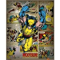 Marvel Comics Wolverine Retro - 16 x 20 Inches Mini Poster - Wolverine Gifts