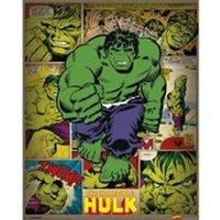 Marvel Comics Incredible Hulk Retro - 16 x 20 Inches Mini Poster - Hulk Gifts
