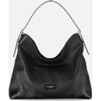 Aspinal of London Womens A Hobo Bag - Black Pebble