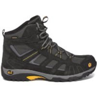 Jack Wolfskin Mens Vojo Hike Mid Walking Boots - Burly Yellow - UK 11 - Grey/Yellow