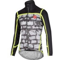 Castelli Pave Jacket - Photo Print - L - Black/Yellow