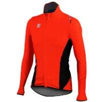 Sportful Fiandre Light NoRain Long Sleeve Jersey - Red/Black - L - Red/Black
