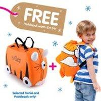 Trunki Tipu Suitcase with Free Chuckles PaddlePak