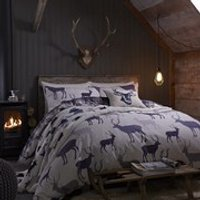 Catherine Lansfield Grampian Stag Brushed Bedding Set - Multi - Single - Multi - Stag Gifts