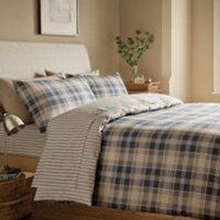 Catherine Lansfield Tartan Brushed Bedding Set - Multi - Single - Multi