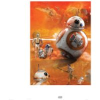 Star Wars The Force Awakens BB-8 Zavvi Exclusive Print - Star Wars Gifts