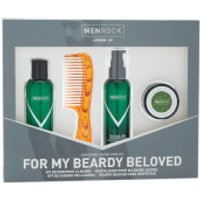 Men Rock Awakening Beard Care Kit - Beardy Beloved (Beard Shampoo, Beard Balm, Moustache Wax, Beard Comb)