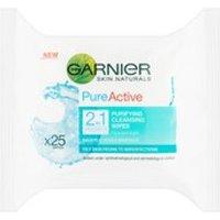 Garnier Pure 2-in-1 Wipes (25 Pack)