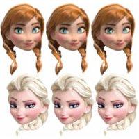Disney Frozen 3 Anna and 3 Elsa Masks (6 Pack) - Disney Frozen Gifts