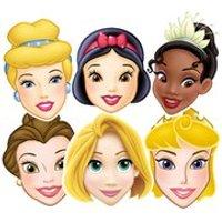Disney Princess Snow White, Cinderella, Belle, Tiana, Rapunzel, Aurora Masks (6 Pack) - Rapunzel Gifts