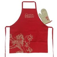 Game of Thrones Lannister Apron with Oven Mitt - Game Of Thrones Gifts