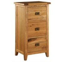 Vancouver Oak VXA010 Three Drawer Filing Cabinet