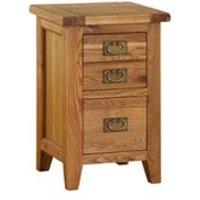 Vancouver Oak VXB001 Two Drawer Bedside Cabinet