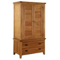 Vancouver Oak VXB012 Two Door Wardrobe
