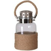 Rope Wrapped Glass Jar Lantern