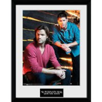 Supernatural Sam and Dean - 16 x 12 Inches Framed Photographic - Supernatural Gifts