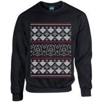 Star Wars Christmas Darth Vader Imperial Starship Sweatshirt - Black - M