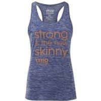 Mio Skincare Womens Performance Slogan Vest - Blue - UK 14 - Blue