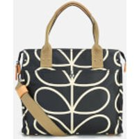Orla Kiely Womens Stem Zip Messenger Bag - Liquorice