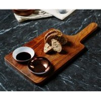 Just Slate Sheesham Wood Serving Paddle and Bowl Set