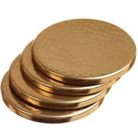 Just Slate Gold Coasters - Set of 4