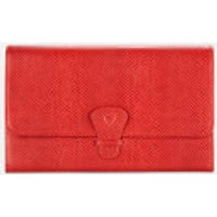 Aspinal of London Womens Classic Travel Wallet - Berry Red