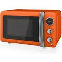 Swan SM22030ON 800W Digital Microwave - Orange - Orange Gifts