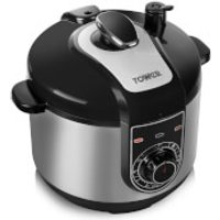 Tower T16004 5L Pressure Cooker - Silver